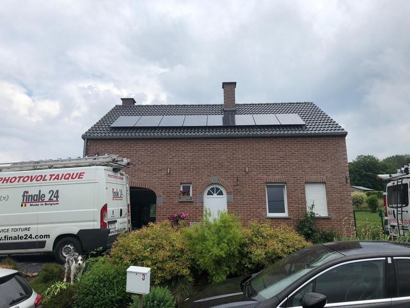 Installation photovoltaïque Liège Aywaille après