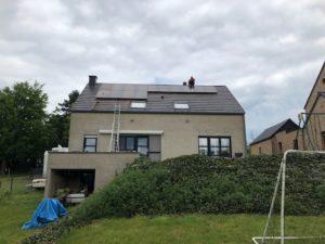 Placement panneaux photovoltaïques Liège Mortier après