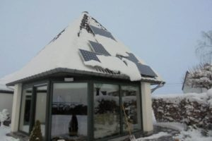 Installation photovoltaïque en hiver
